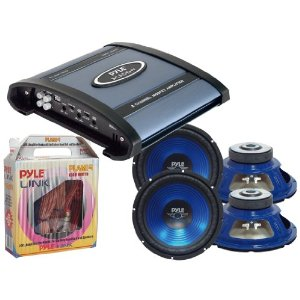 Pyle Deluxe Amplifier/Subwoofer/Installation Package for Car/Truck/SUV