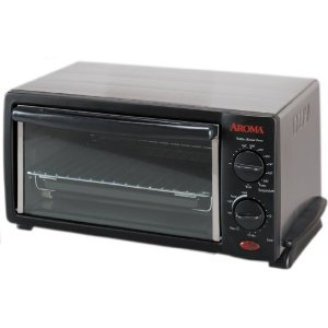 Aroma ABT-208S 4-Slice Stainless Steel Toaster Oven