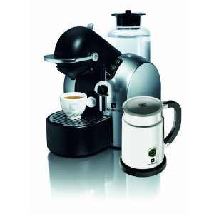 Nespresso D290 Concept Automatic Coffee-and-Espresso Machine with Aeroccino Milk Frother, Satin Chrome