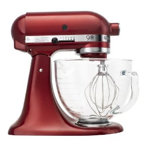 KitchenAid KSM158GBCA 90th Anniversary Limited-Edition 5-Quart Stand Mixer, Candy Apple Red