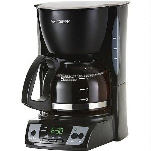 Mr. Coffee CGX7 5-Cup Programmable Coffeemaker, Black
