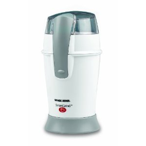 Black & Decker CBG100W Coffee Grinder, White