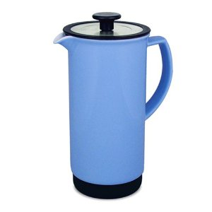 Cafe Style Coffee / Tea Press 34 Oz. - Blue