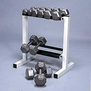 Hex Dumbbell 5-25LB 150LB with Rack