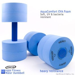 Exervo Aqua Fitness Water Dumbells, Heavy Resistance