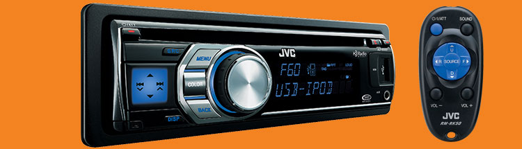 Jvc kdr600 car cd usb receiver 80w front aux in blu tooth