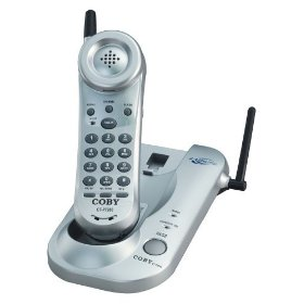 Coby ctp7200 silver cordelss phone 2.4ghz