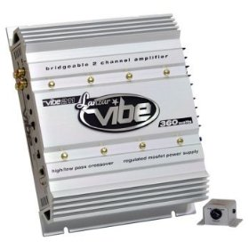 Lanzar VIBE211 Vibe 360 Watt 2 Channel Mosfet Amplifier