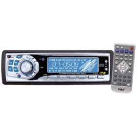 Pyle - AM/FM-MPX CD Player w/Flip Down Detachable Face - PLCD55