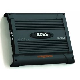 BOSS CW750 CHAOS WIRED 1600 Watts 2-Channel Mosfet Power Amplifier with Subwoofer Level Control