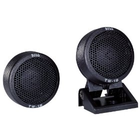 Boss Audio TW18 Micro-Dome Tweeter with Swivel Mount (Single, Black)