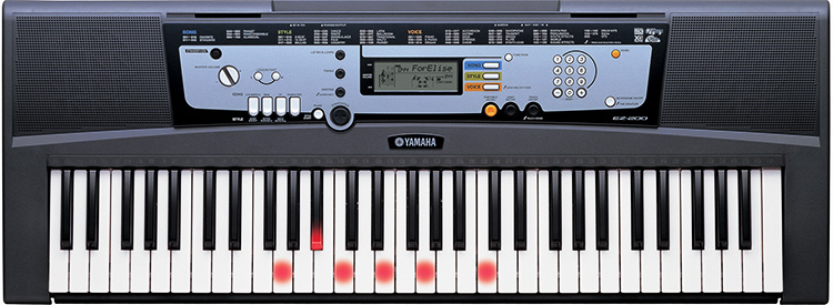 Yamaha ez200ms keyboard 61note full size touch sensitive