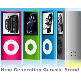 8gb Blue New Generation Generic Brand Mp3 Mp4 Versatile Multifunction Multimedia Player