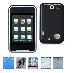 8 GB MP4/MP3 Player with FM Radio, Camera, Voice Recorder, USB Portable, and 2.8-inch Touchscreen