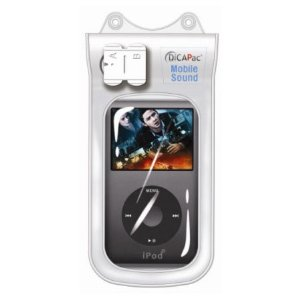 DiCAPac WPMS20 Waterproof Case for iPods 4Gen Nano with Haptic Respond Vibration Waterproof Earphone