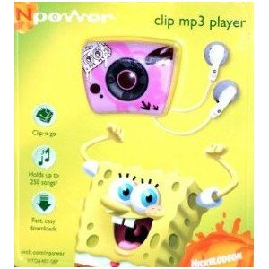Nickelodeon NPower SpongeBob Squarepants Clip MP3 Player - Pink