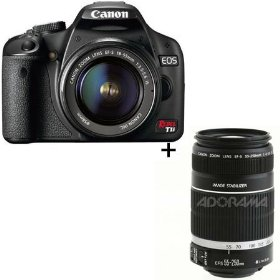 Canon EOS Rebel T1i EF-S Digital SLR Camera - Black - 2 Lens Kit - with 18-55mm IS & 55-250mm f/4-5.6 IS