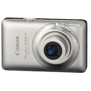 Canon PowerShot SD940IS 12.1MP Digital Camera with 4x Wide Angle Optical Image Stabilized Zoom and 2.7-inch LCD (Silver)