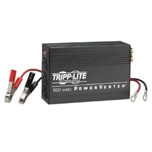 Tripp Lite Powerverter 500W Ultra Inverter 12Vdc-120Vac 3Outlet with Cables