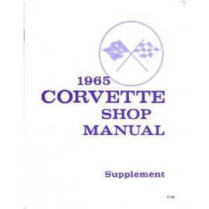 1965 CHEVROLET CORVETTE Shop Service Repair Manual Book