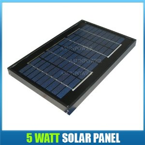 Solartech Power 5 watt 12 volt Solar Panel Black Frame