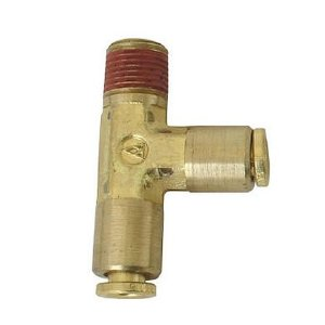 Powertank FIT-9000 5mm x 5mm x 1/8 MPT Brass Street T