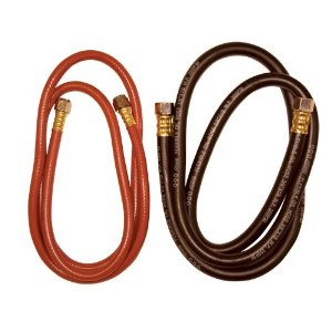 2pc 12 ft Hose Set for Pressure Feed Paint Guns