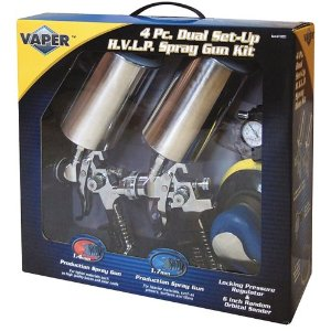 Star Asia 19223 HVLP Dual Set-Up Spary Gun Kit - 4 piece