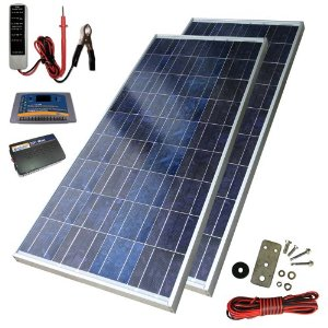 Sunforce 39626 160-Watt High-Efficiency Polycrystalline Solar Power Kit