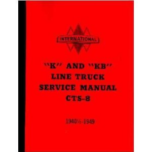 1941 1947 1948 1949 INTERNATIONAL K KB Service Manual