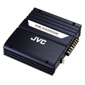 JVC KS-AX3002 Compact 2-Channel Power Amplifier with 370 Watts Max. Power Output (Black)