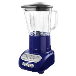 KitchenAid KSB565BU 5-Speed Blender with 48-Ounce Glass Jar, Cobalt Blue