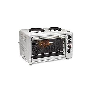Avanti Convection Oven with 2 Burner Cooktop - White