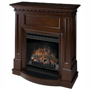 Dimplex CFP3831WN Compact Electric Fireplace with Walnut Finish