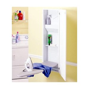 Broan Built in ironing center with wall mounted ironing board ,iron rest and flat panel door
