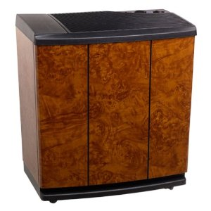 Essick Air H12-400 3-Speed Evaporative Console Humidifier, Oak Burl