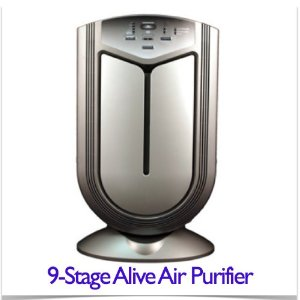 Alive Air Purifier - 9-stage with HEPA, UV, Tio2, Carbon, Tio2,