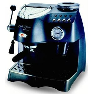Espressione 1329 Cafe Roma Deluxe Espresso Machine with Built-in Grinder, Anthracite Grey