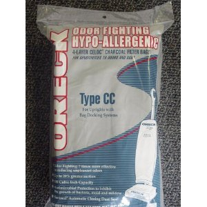 Oreck Odor Fighting Hypo-Allergenic 4-Layer Celoc Charcoal Filter Bags - 8 Bags Per Pack.