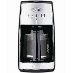 Hamilton Beach 43254 Ensemble 12-Cup Coffeemaker with Glass Carafe, Black