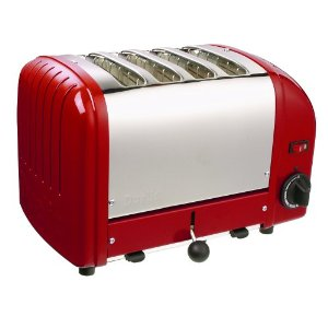 Dualit 4-Slice Toaster, Red
