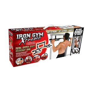 Iron Gym Xtreme Total Upper Body Workout Bar with Bonus Ab Straps