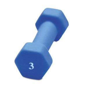 Cap Barbell Neoprene Dumbbell (Light Blue, 3-Pound )