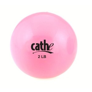 Fitness by Cathe 2-Pound Fitness Ball with DVD (Pink)