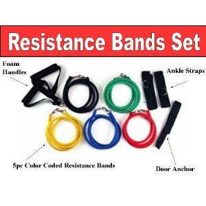 Exercise and Resistance Bands Workout Set
