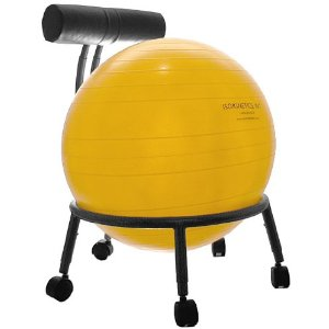 Isokinetics Fitness Ball Chair - with Choice of 52cm Ball and a Pump
