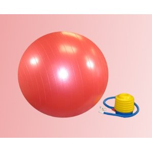 Body Sport Exercise Ball / Balance Ball with Foot Pump ((Large, 75 Cm)