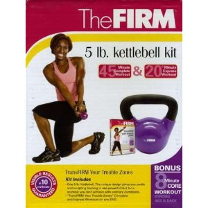 The FIRM 5-Pound Kettle Bell Kit with Transfirm Your Trouble Zones DVD
