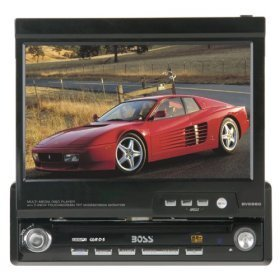 Boss DVD/MP3/CD Receiver with Motorized FlipOut 7
