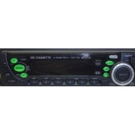 Sanyo FXCD-1100 - Radio / CD / cassette player - Full-DIN - in-dash - 4-channel - 45 Watts x 4